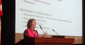 Undergraduate student presents at research conference