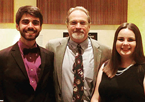 Alex, Dr. Walsh, and Kelly at the annual Honors Dinner