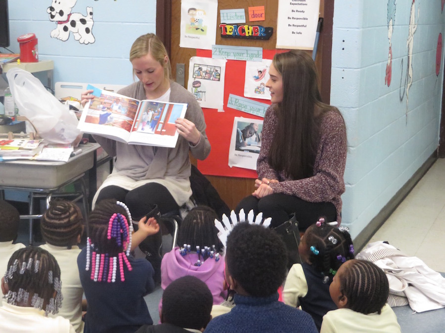 Volunteers Reading With Guilford Students