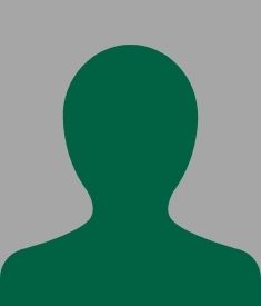 dark green outline of a person over a gray background