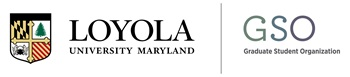 Loyola University and Graduate Student Organization logos