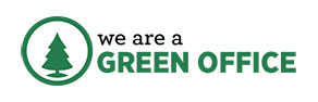 We are a green office logo