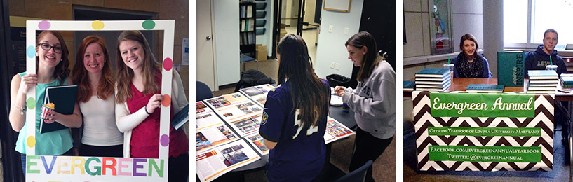 Students working on the Yearbook