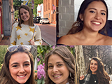 From upper left to bottom right: Sarah Aviles, '20, Evelis Casey, '20, Chiara Maalouf, '20, and Katie Singley, '20
